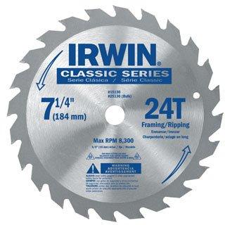Irwin Classic Series Carbide Tipped Circular Saw Blade