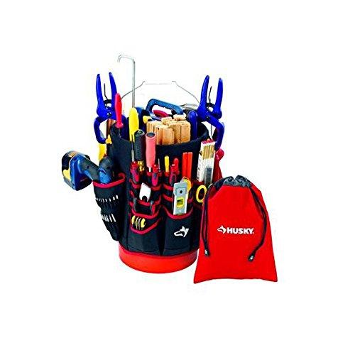 Husky Bucket Jockey Drawstring Bag Tool Organizer Combo