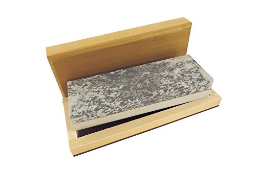 Natural Authentic Arkansas Combination Soft Medium and Hard Fine Knife Sharpening Bench Stone Whetstone 6 x 2 x 1 in Wood Box NWS-HS6x2x1