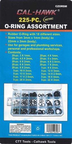 225 O-Ring Assortment Kit METRIC Pneumatic Air Rubber Hydraulic Tool Paintball Set