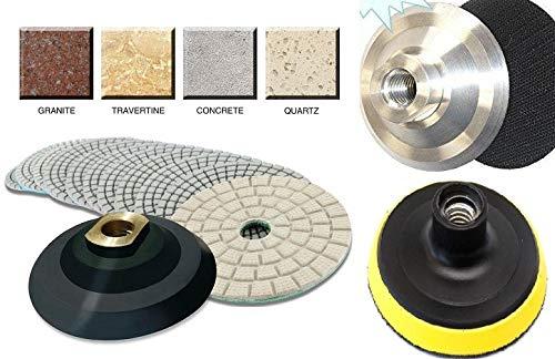 4 Inch Diamond Resin Polishing Pad Sanding Disc Buffer 255  Rubber Aluminum PVC Backer granite tools marble protector concrete mortar patching stone restoration travertine repair kit