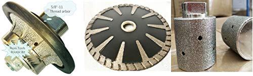 Diamond 316 Radius Bullnose Profile shaping wheel router bit 1 14 zero tolerance grinding drum 5 diamond convex curved blade granite tools stone fabrication concrete marble repair refinishing