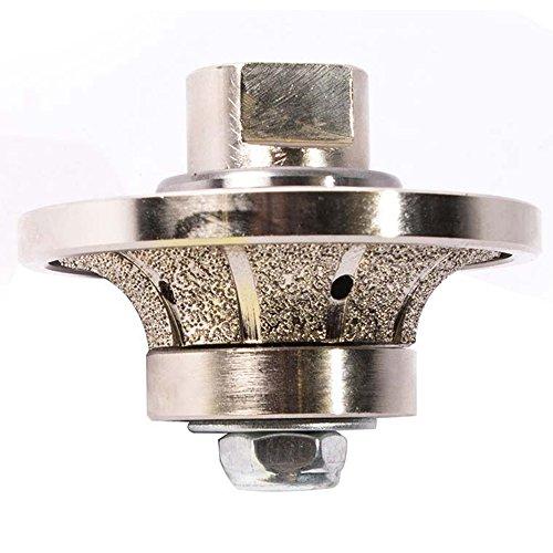 Secco 12RPW 12 Inch Radius Diamond Grinding and Shaping Profile Wheel Half Bullnose Granite Tool Vaccuum Brazed 58 X 11 Female Threads