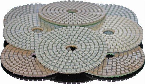 STADEA 6 Diamond Polishing Pads Grit 3000 Wet for Granite Concrete Stone Polishing
