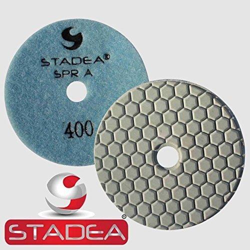Stadea DPPD04SPRA400G1P Dry Concrete Diamond Polishing Pad for Concrete Stone Granite Travertine Marble Glass Polishing with Grit 400