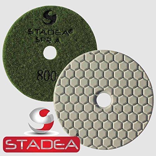 Stadea DPPD04SPRA800G1P Dry Concrete Diamond Polishing Pad for Concrete Granite Travertine Stone Marble Glass Polishing with 4-Inch Grit 800 by STADEA