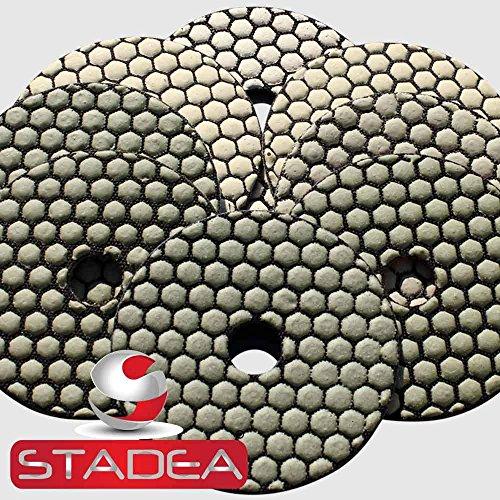 stone concrete diamond polishing pads - 4 Inch Dry Discs Set For Marble Granite by STADEA