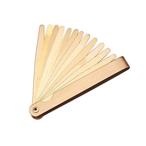 Utoolmart Measuring Tool Feeler Brass Steel Material Metric Gap Feeler Gauge Measure Tool Leaf Offset Measure Tool Thickness Measure Feeler Gauge 1pcs