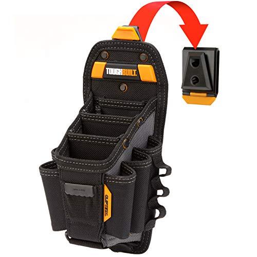 ToughBuilt - Technician 10 Pocket Pouch Large  15 Pockets Loops 3 Adjustable Pockets LongShort Tools Holster Accessories Multi-Tool Organizer ClipTech Hub Belts TB-CT-36-L10