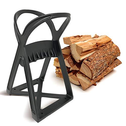 KABIN Kindle Quick Log Splitter - Manual Splitting Tool - Steel Wedge Point Splits Firewood Like A Boss Safely Easily