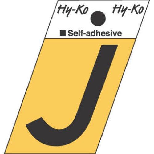 Hy-Ko GR-10J Aluminum Angle Cut with Letter J 15 Black