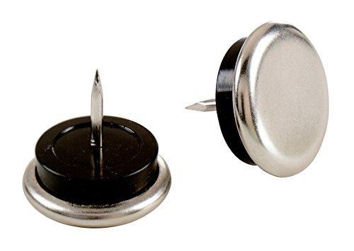 Shepherd Hardware 9100 1-Inch Nail On Furniture Glides with Satin Nickel Base by Shepherd Hardware