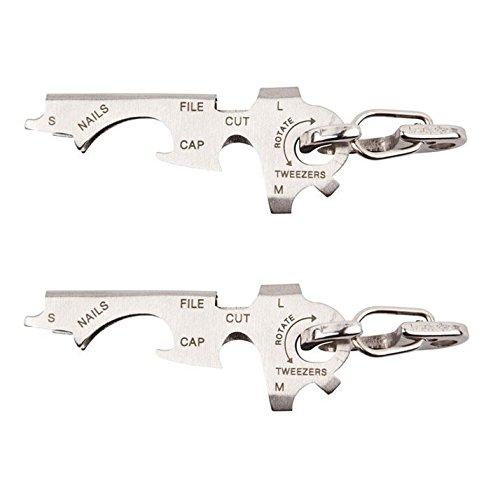 True Utility TU247 Keytool Multifunction Stainless Steel Key Ring Tools 2 Pack