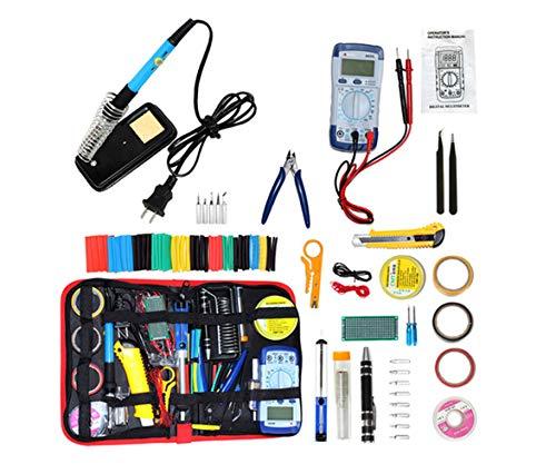 Soldering Iron Kit Electronics 32-in-1 60W Soldering Iron with Adjustable Temperature Soldering Gun 5pcs Soldering Iron Tips Solder Wire Desoldering Pump Tweezer Soldering Stand Tool Case