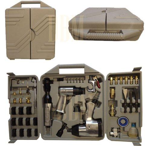 50 PC Pneumatic Air Tool Kit Gun Nozzle Impact Ratchet Socket Wrench MF Coupler