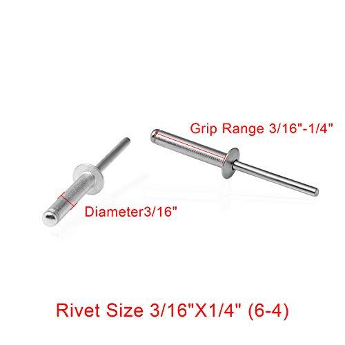 304Stainless Steel Blind Rivet316Diameter14Max Grip6-4100PACK