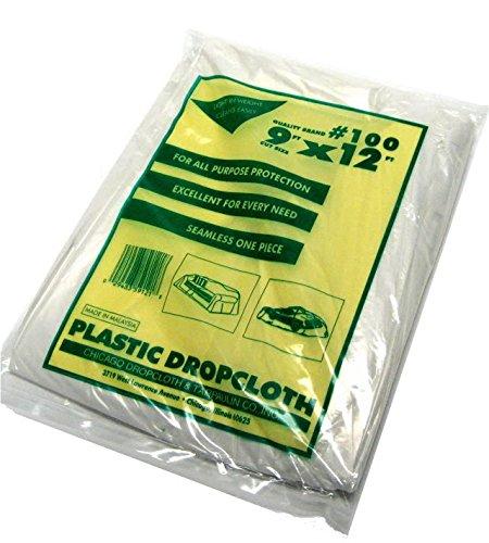 6 Piece Set - 9 x 12 Plastic Drop Cloth - 1 Mil