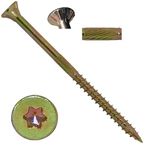 10 X 3-12 Gold Star Wood Screw TorxStar Drive Head 5 Pounds - Multipurpose TorxStar Drive Wood Screws