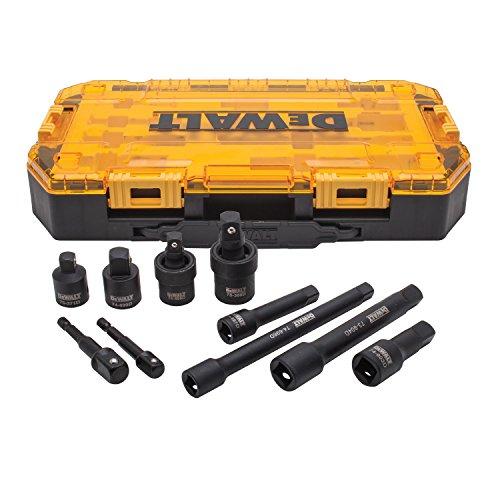 DEWALT Impact Driver Socket Adapter Set 10-Piece 38 12 Drive Metric DWMT74741