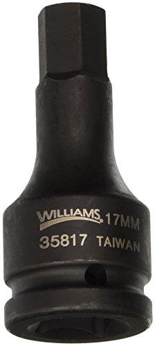 Williams 35817 34-Inch Drive Impact Hex Bit Driver 17mm