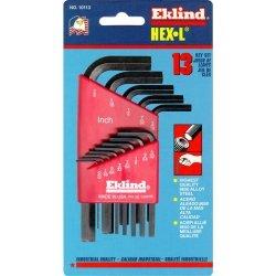 Eklind Tool Company EKL10113 13 Piece SAE Short 050-38in Hex Key Set