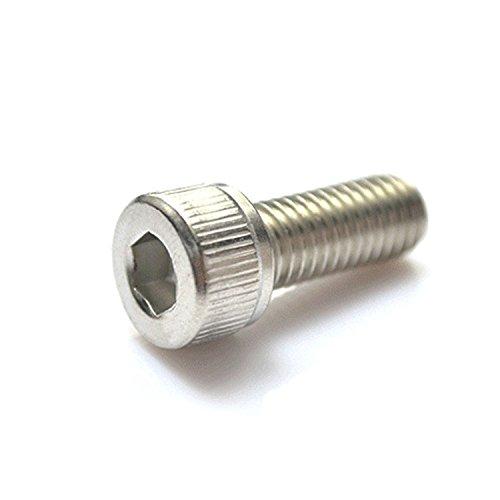 M3 x 6mm Hex Socket Head Cap ScrewsPack 100-pieceStainless SteelFull ThreadMetricKnuled Head