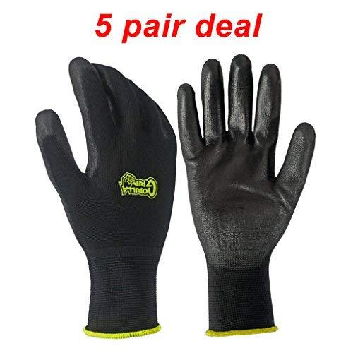 5 PACK Gorilla Grip Gloves - Medium