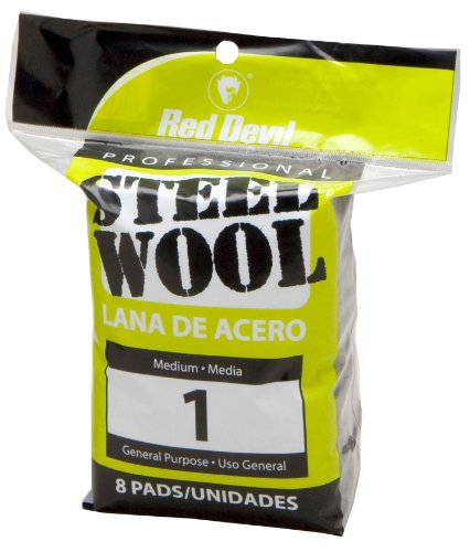 Red Devil 0324 Steel Wool 1 Medium 8 Pads