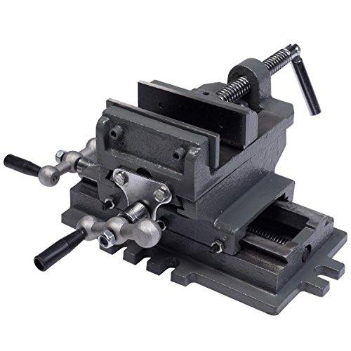 Goplus GP-101040148 4 Cross Slide Drill Press Vise X-Y Compound Vise Cross Slide Metal Milling 2 Way HD