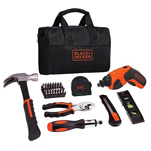 Black Decker BDCS20PK 4V MAX Lithium Screwdriver and Project Kit