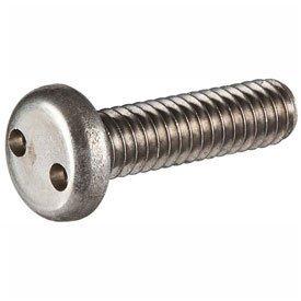 14-20 x 2 Security Machine Screw - Pan Spanner Head - 18-8 Stainless Steel - FT - UNC - 100 Pk