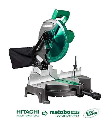 Metabo HPT C10FCGS 10 Compound Miter Saw 15-Amp Motor Single Bevel 0-52° Miter Angle Range 0-45° Bevel Range Large Table 10 24T TCT Saw Blade