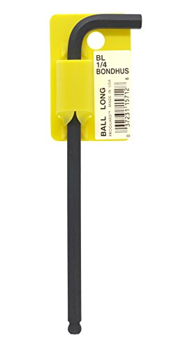 Bondhus 15712 14 Ball End Tip Hex Key L-Wrench with ProGuard Finish Tagged and Barcoded Long Arm