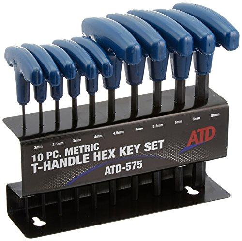 ATD Tools 575 10-Piece Metric T-Handle Hex Key Set