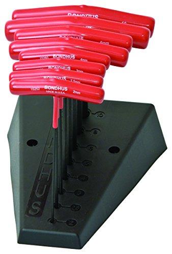 Bondhus 15289 Set of 8 Hex T-Handles 6 Length Sizes 2-10mm