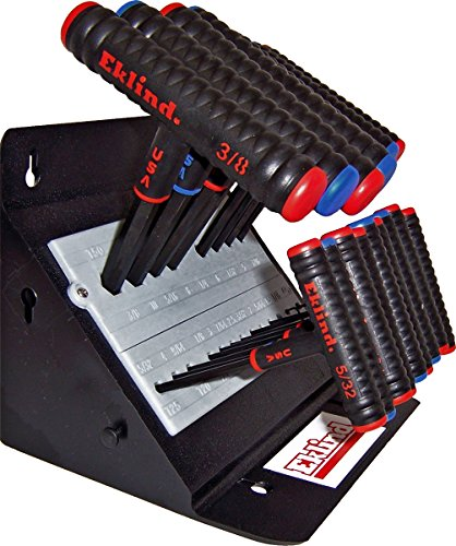 EKLIND 60625 Power-T T-Handle Hex allen wrench T-Key Combo- 6in Inch  MM 2 sets 19pc