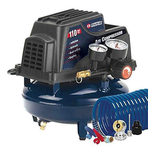 Campbell Hausfeld Air Compressor 1-Gallon Pancake Oilless 36 CFM 33HP 120V 3A FP2028