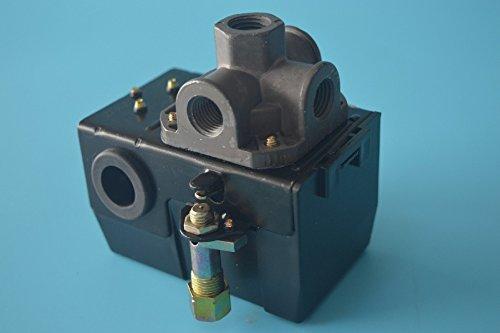 Lefoo Pressure Switch Control 90-125psi 4 Port Heavy Duty 26 Amp for Air Compressor LF10A-4H-1-NPT14-90-125
