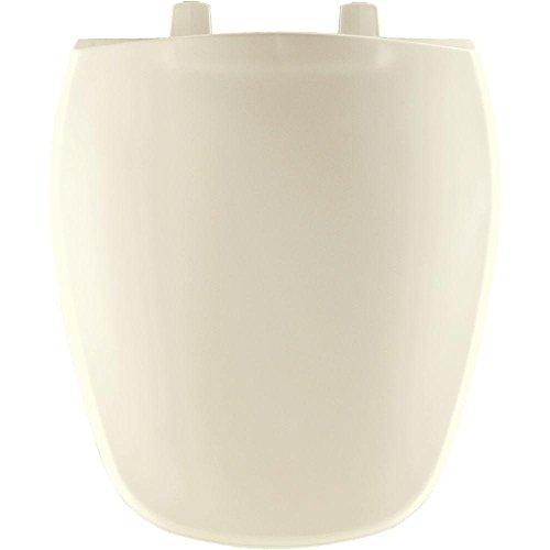Bemis 1240200346 Eljer Emblem Plastic Round Toilet Seat BiscuitLinen