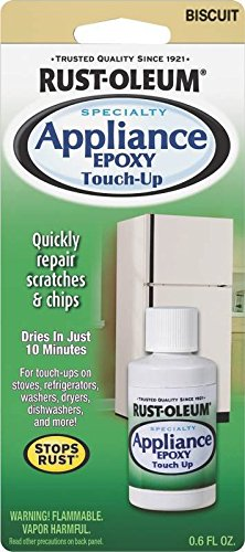 Rust-Oleum 203002 6-Ounce Specialty Brush Bottle Appliance Touch Up Biscuit