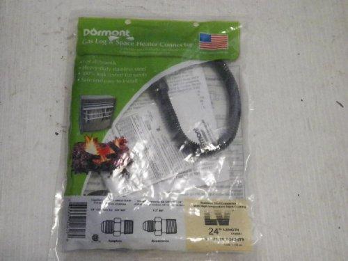 Dormont 38-in OD 14-in ID 38-in MIP x 12-in FIP 24-in L Stainless Steel Connector Item379128 Model10A-2131KIT-24B-079 UPC662447116180