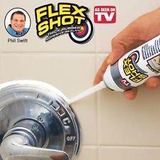 Flex Shot - Thick Rubber Adhesive Sealant Jumbo White