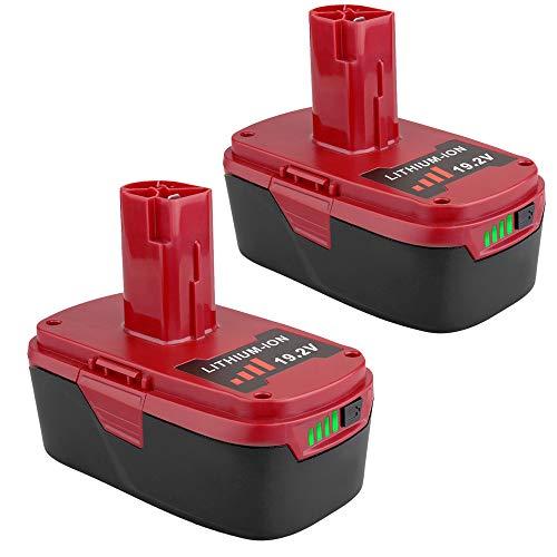 2 Pack 192V 4000mAh Lithium-ion C3 Battery for Craftsman 192 Volt Battery DieHard 130279005 1323903 130211004 11045 315115410 31511485 Battery
