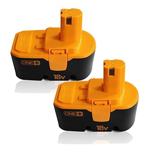 "2 Packs Ryobi P100 ONE 18V Battery CREJOYâ""¢ 18V Ryobi Battery for Ryobi 130224028 130224007 130255004 ABP1801 ABP1803 BCP18172SM BPP-1813 BPP-1815 BPP-1817 BPP-18172 BPP-1817M BPP-1820"