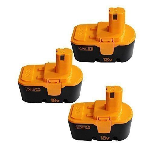 "3 Packs CREJOYâ""¢ Ryobi 18V 2000mAh Ni-Cd Replacement Battery For Ryobi 130224028 130224007 130255004 ABP1801 ABP1803 BCP18172SM BPP-1813 BPP-1815 BPP-1817 BPP-18172 BPP-1817M BPP-1820"