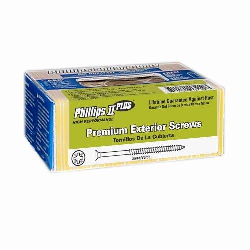 1 lb 7x1-14 Green Exterior Screws