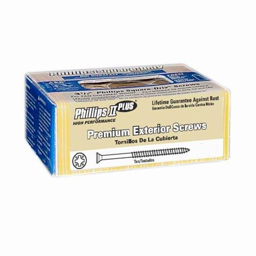 1 lb 8x1-14 Tan Exterior Screws