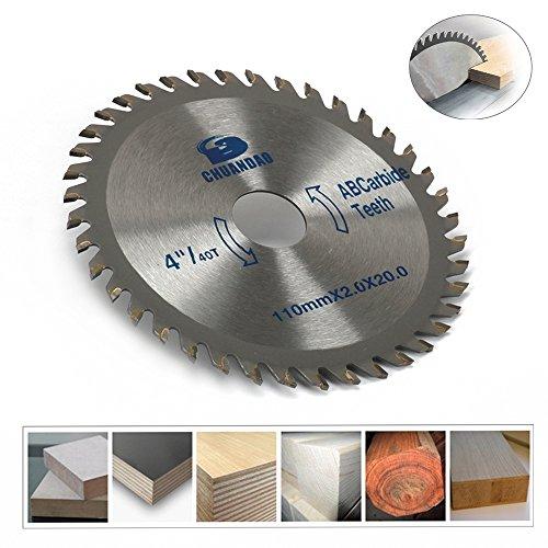4inch 40T Carbide Circular Saw Blade Cut Tool For Cutting Wood Aluminum Powerful 110mm