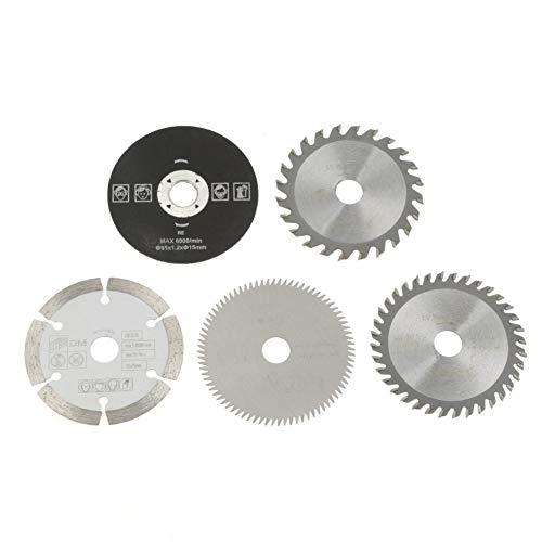 Circular Saw5Pcs 85mm Inner Diameter 15mm Mini Carbide Circular Saw Blades for Cutting Tool