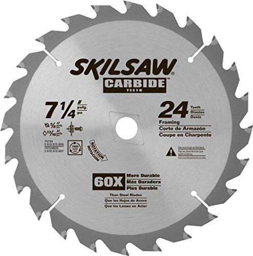 SKIL 75724 24-Tooth Carbide Circular Saw Blade 7 14